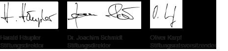 Unterschriftenbanner